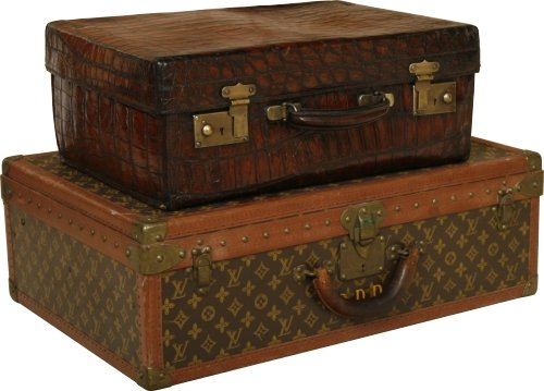 Two of our selection of antique cases