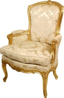 French Gilt Wood Armchairs