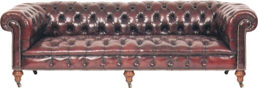 An 8ft Burgundy coloured Chesterfield