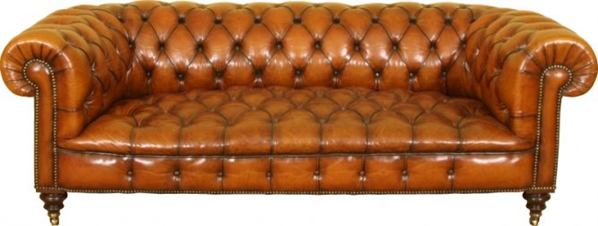 A 6ft Tan coloured Chesterfield