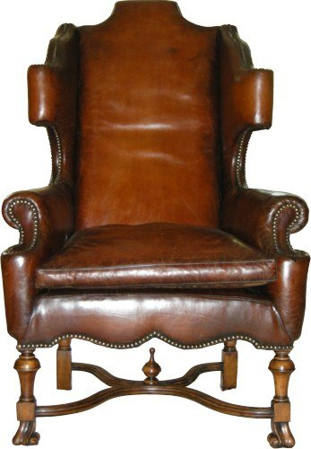 A Unique 1685 William & Mary style Scrolled Wing Back Chair
