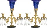 A pair of gilt bronze  candelabras